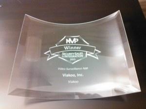 SSI MVP glass award