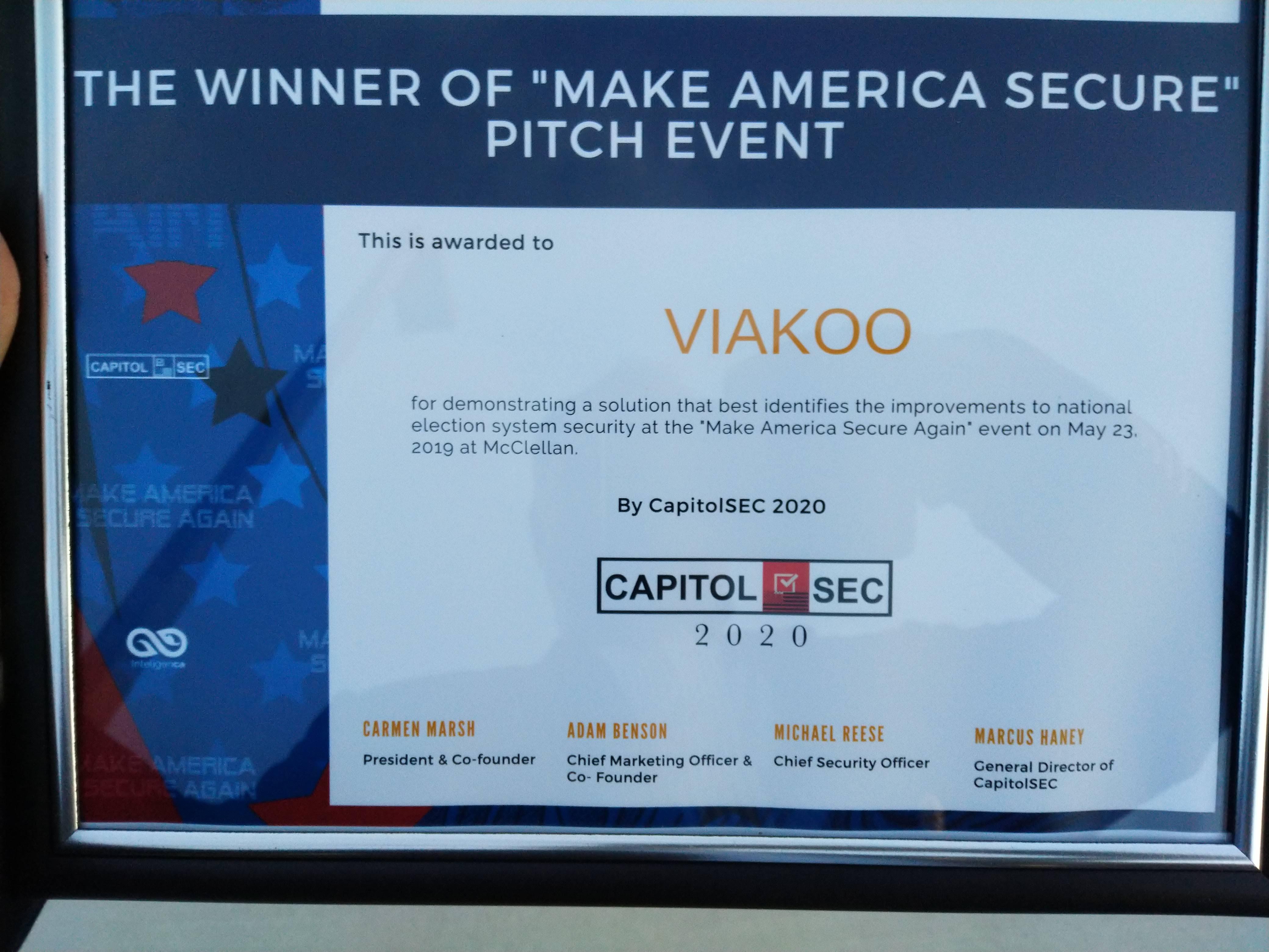 CapitolSec 2020 winner